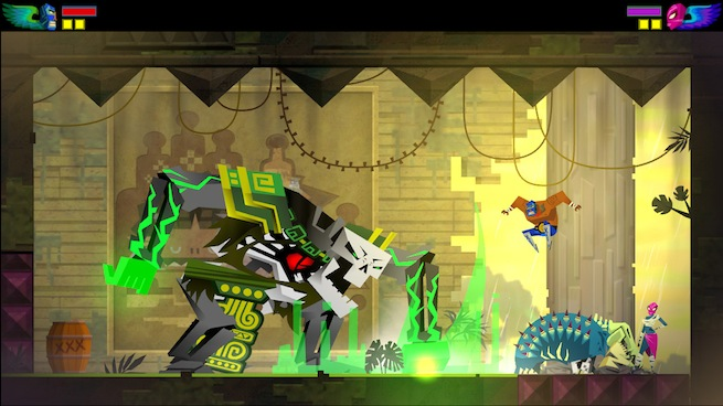 Guacamelee temple 1 fight