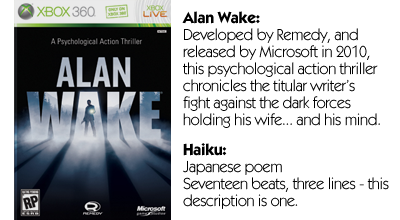 Haiku Review - Alan Wake
