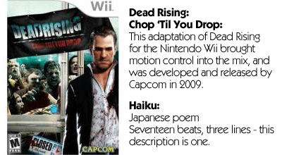 Haiku Review - Dead Rising Chop Til You Drop Review Teaser