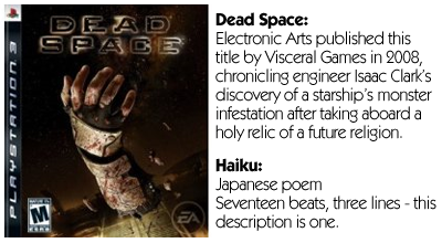 Haiku Review - Dead Space (PS3)