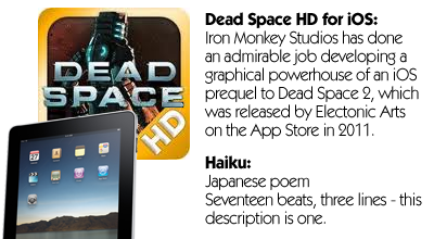 Haiku Review - Dead Space (iOS)