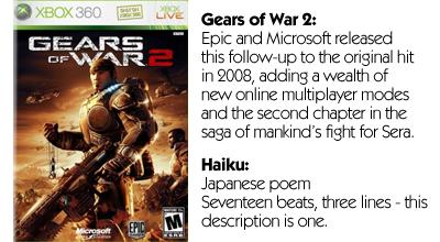 Haiku Review - Gears of War 2 (360)
