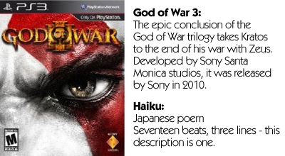 Haiku Review - God of War 3