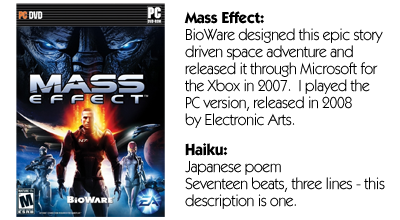 Haiku Review - Mass Effects (PC)
