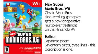 Haiku Review - New Super Mario Bros. Wii