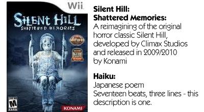 Haiku Review - Silent Hill Shatter Memories Teaser
