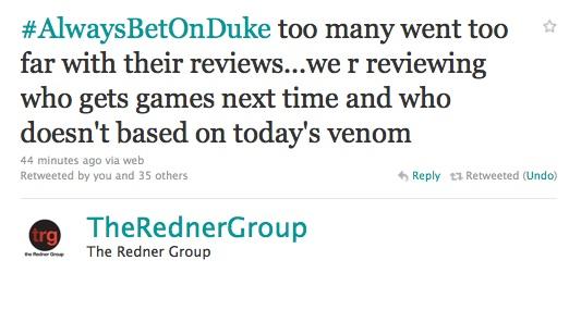 The Redner Group Tweet