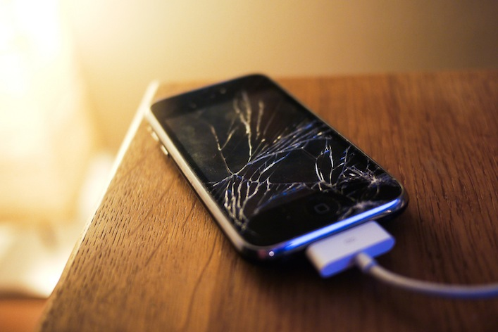 iphone cracked