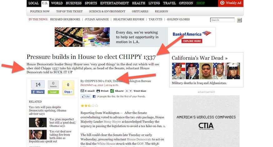LA Times hack