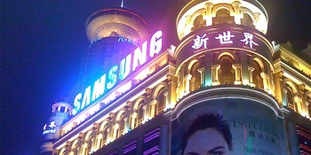 Samsung triples sales in China to claim top spot for the first time