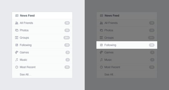 Facebook's new news feed options