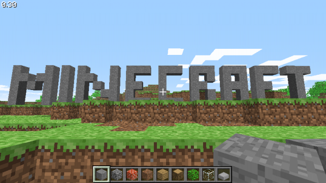 The block-building open-world game Minecraft.