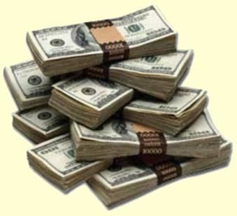piles of money
