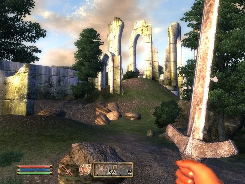 The Elder Scrolls 4: Oblivion First-Person Perspective