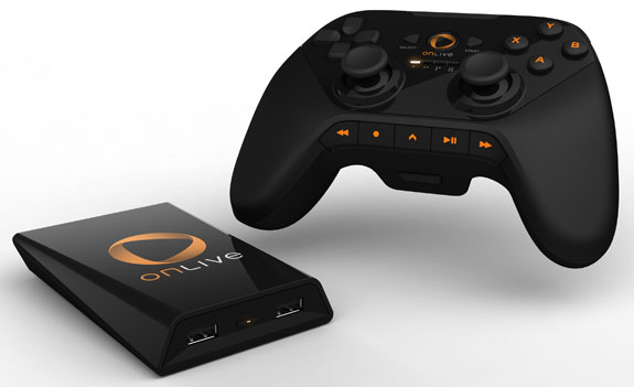 Onlive's console and controller