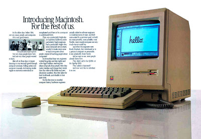 Advertisement for the first Macintosh computer