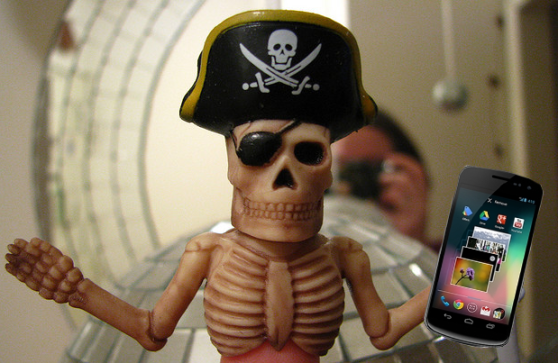 pirate-with-phone