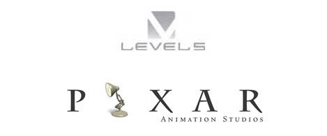 Level 5 and Pixar Logos
