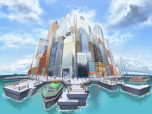 Pokémon Black and White city concept art