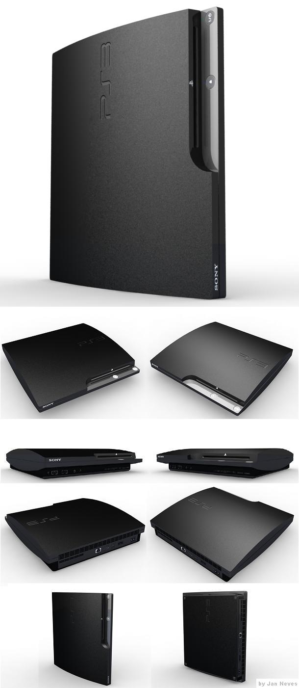 PS3 3D Model Rendered