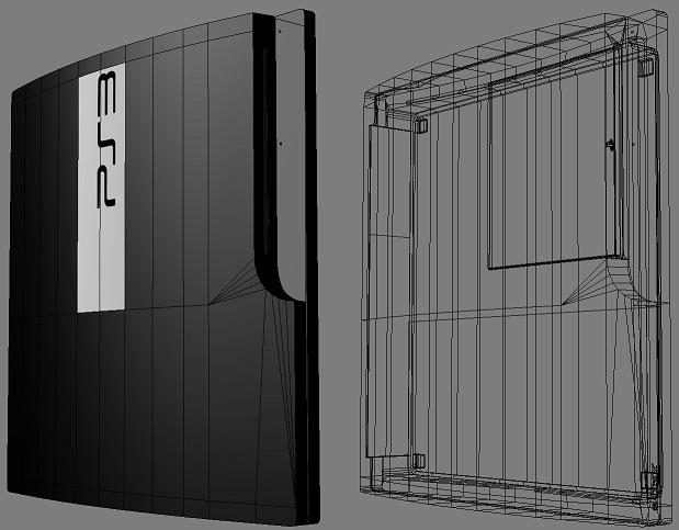 PS3 3D Model Wireframe