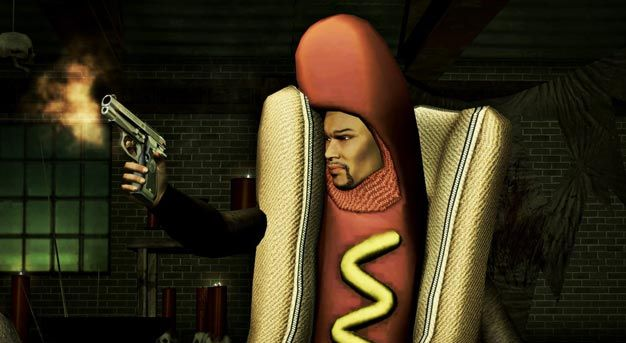 Saints Row IV's hot dog in action.