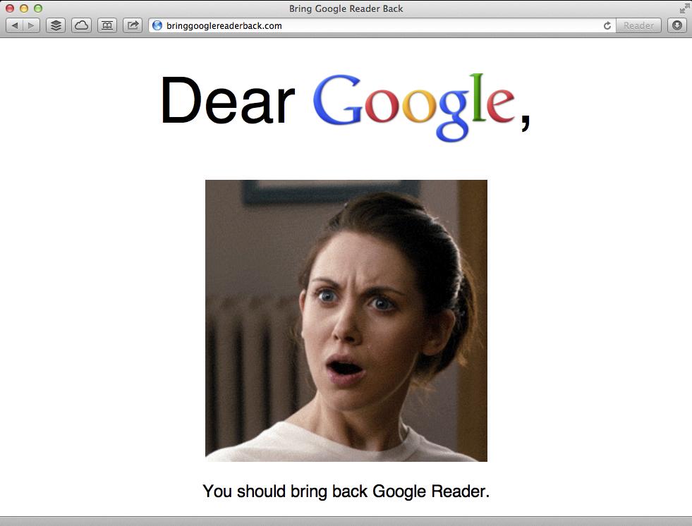 Bring google reader back