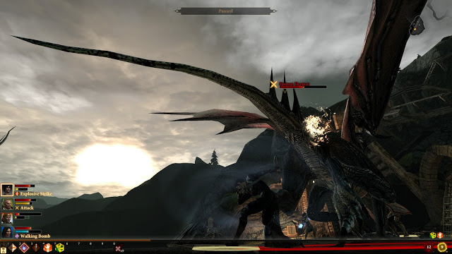 Fighting a Dragon in Dragon Age 2