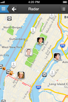 Scringo adds radar features to your app, optionally.