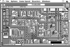 Screenshot from original Mac version of SimCity