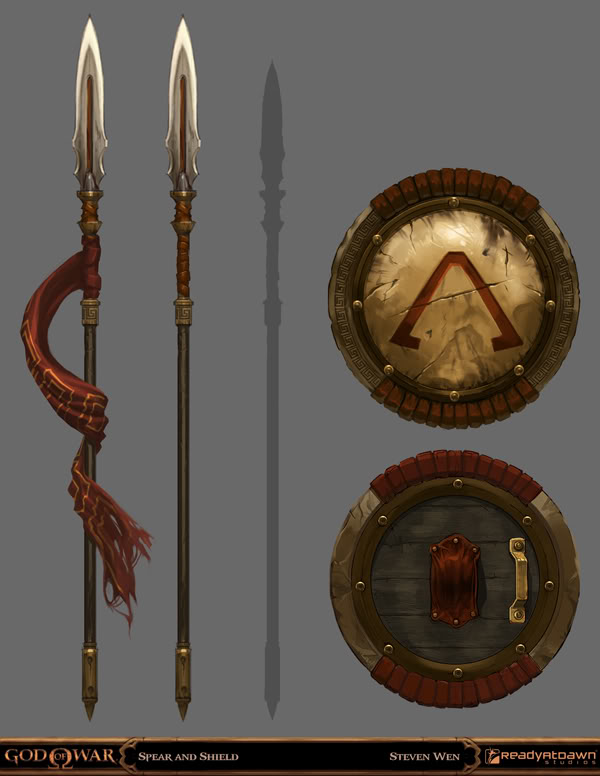 GoW Spear and Shield