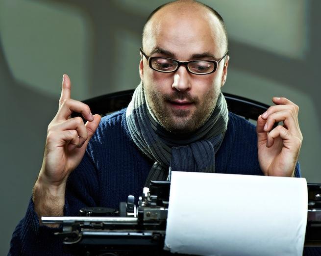 typewriter guy