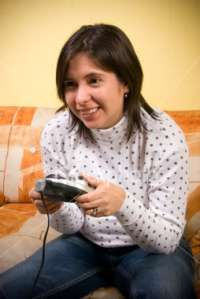 Girl playing games