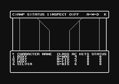 Wizardry 1 screen