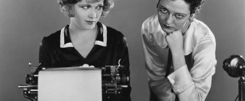 women typewriter