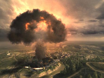 A nuke exploding over a city