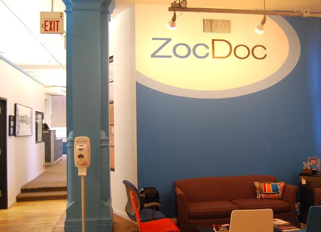ZocDoc's office lobby