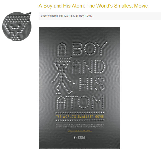 a boy and his atom