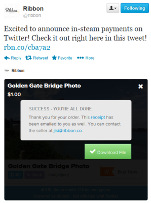 in-stream twitter payments