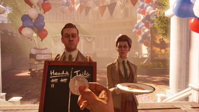 BioShock Infinite coin toss