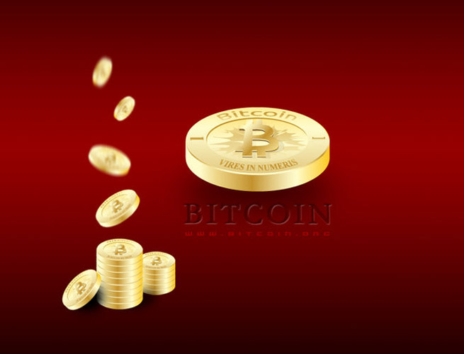 bitcoin art red