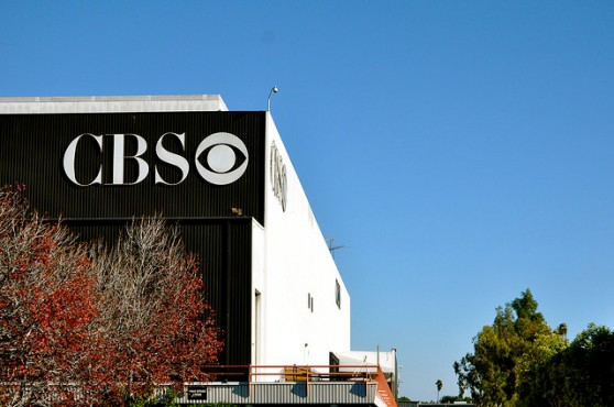 CBS logo on a building in Los Angeles
