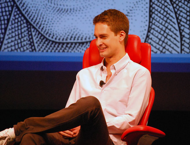 Snapchat founder and CEO Evan Speigel