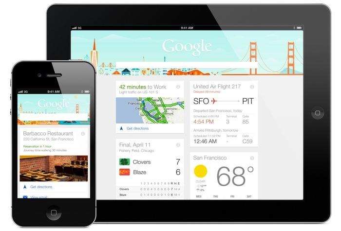 google now iphone ipad