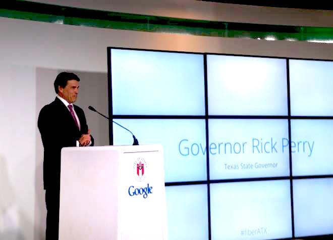 Google Fiber Rick Perry