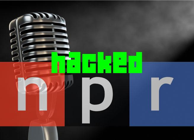 hacked npr