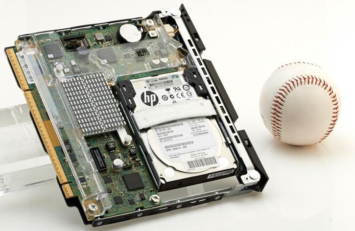 HP Moonshot server with baseball