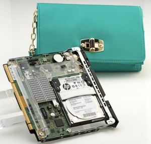 HP Moonshot server with green purse