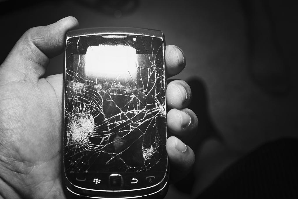 broken BlackBerry