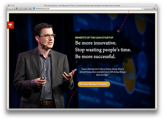 Part of Eric Reis' Lean Startup website